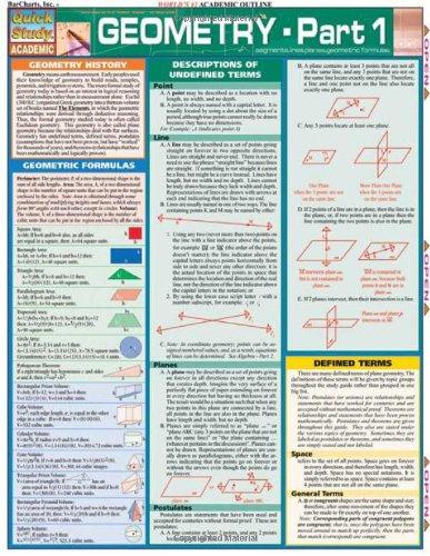 Geometry Part 1 (Quickstudy: Academic)