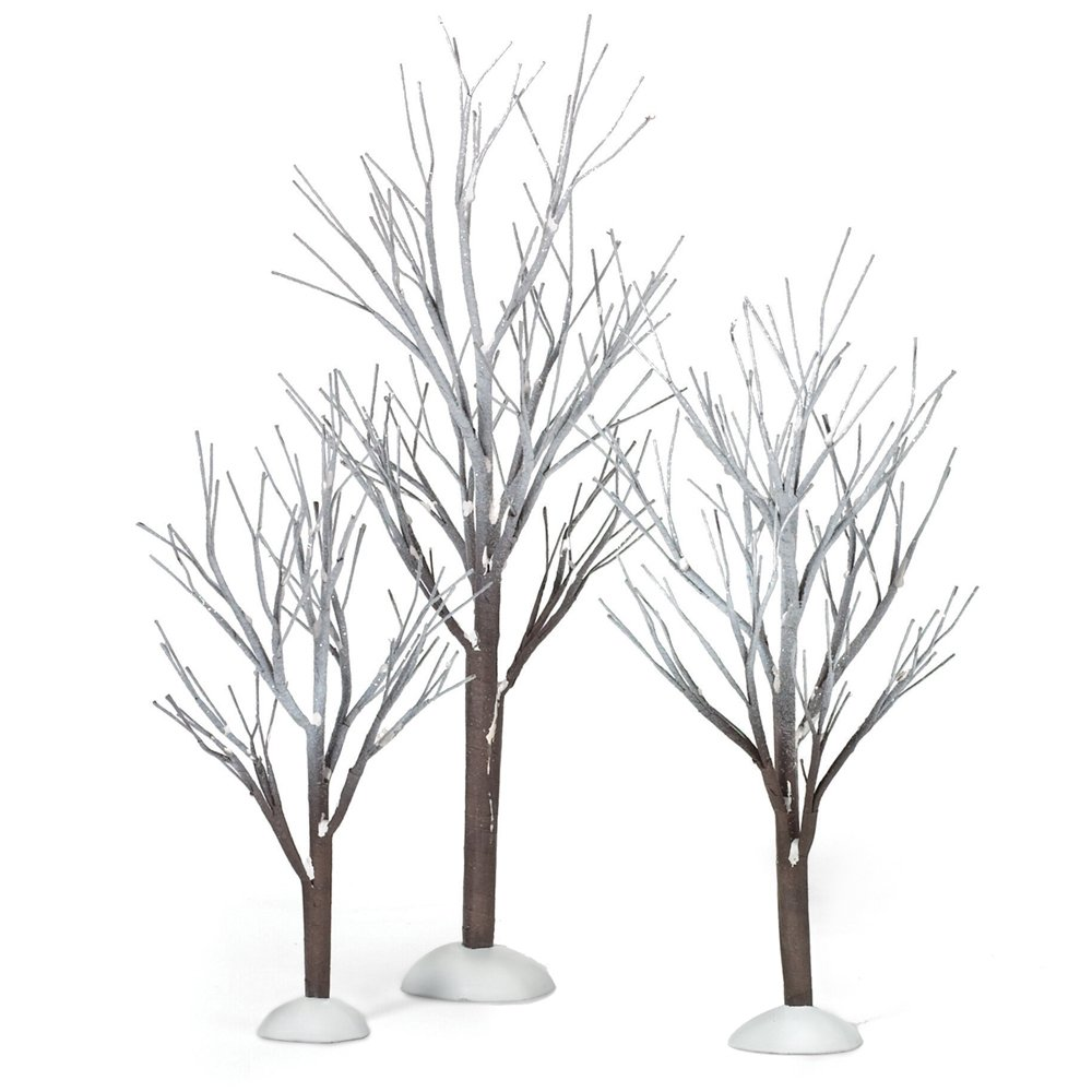 Department 56 Original Snow Village First Frost Trees, Set of 3