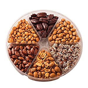 Freshly Roasted Nuts Gift Basket, 6 Sectional Tray