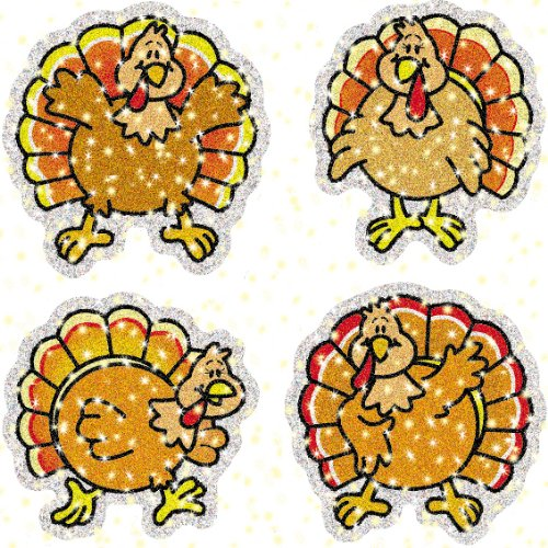 Carson Dellosa Turkeys Dazzle Stickers (2830)