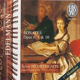 Edelmann: Sonates, Opp. 6, 8 & 10