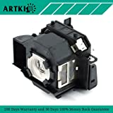 Artki ELPLP34 Replacement Lamp for Projector Epson PowerLite 62C 76C 82C EMP-62 EMP-62C EMP-63 EMP-76C EMP-82 EMP-X3 (Color: ELPLP34)