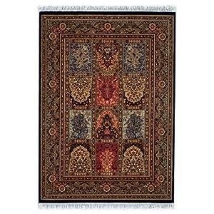 "7'10"" x 11'4"" Area Rug Classic Persian Pattern in Black"