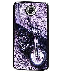 Fuson 2D Printed Bike Designer back case cover for Motorola Nexus 6 - D4501