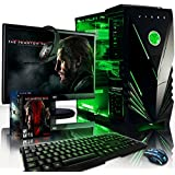 """VIBOX Apache Package 9XW - 4.1GHz 6-Core, GTX 960 Desktop Gaming PC, Computer with WarThunder Game Bundle Complete Full Package Including: Windows 10 Operating System, 22"""" Monitor, Headset, Gamer's Keyboard & Mouse Set AND a Neon Green Internal Lighting Kit PLUS a Lifetime Warranty Included* (New 3.5GHz (4.1GHz Turbo) AMD FX 6300 Six 6-Core Processor, 2GB Nvidia Geforce GTX 960 Graphics Card, Raijintek Aidos CPU Fan Cooler, 2TB Hard Drive, 16GB 1600MHz RAM)"""