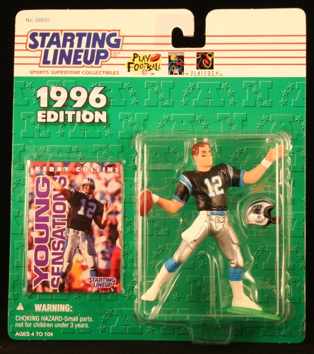 KERRY COLLINS / CAROLINA PANTHERS 1996 NFL Starting Lineup Action Figure & Exclusive NFL Collector Trading Card - 1
