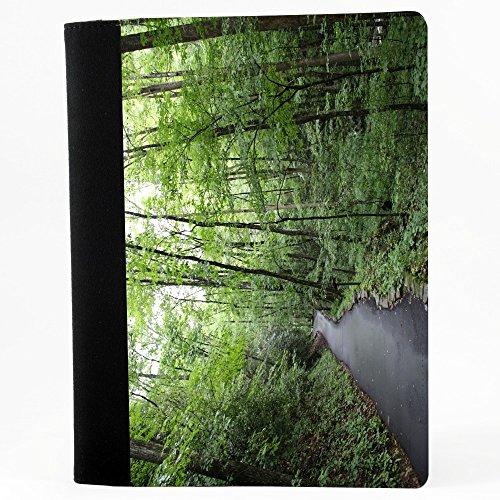 Paesaggi 10026, Foresta, Nero Polyester Cartella Congressi block notes Taccuino con Fronte di Sublimazione e alta qualità Design Colorato.Dimensioni A4-320x240mm.