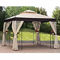 Marvelous Buy Double Arch Gazebo Replacement Canopy and Netting RipLock