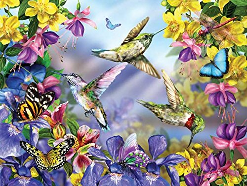 Butterflies & Hummingbirds a 300-Piece Jigsaw Puzzle by Sunsout Inc.