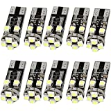 10x NO ERROR FREE CANBUS 8 SMD LED WHITE W5W T10 501 SIDE LIGHT BULBS