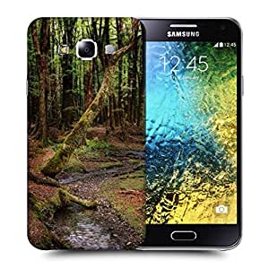 Snoogg Dying Forest Printed Protective Phone Back Case Cover ForSamsung Galaxy E5