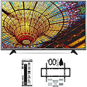LG 49UH6030 - 49-Inch 4K UHD Smart LED TV w/ webOS 3.0 Flat Wall Mount Bundle includes TV, Slim Flat Wall Mount Ultimate Kit and 6 Outlet Power Strip with Dual USB Ports