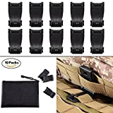 BOOSTEADY MOLLE Clips Tactical Strap Management Tool Web Dominator Backpack Accessories by (Color: Black)