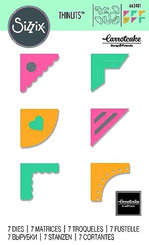 Sizzix 663481 Creative Corners Dies, One Size, Multicolor (Color: Multicolor, Tamaño: One Size)