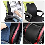 Memory-Foam-3D-Ventilative-Mesh-Lumbar-Support-Back-Cushion-Pillow-to-Properly-Align-the-Spine-and-Ease-Lower-Back-Pain-with-Insert-and-Strap-for-HomeOffice-Chair-and-Car-Black