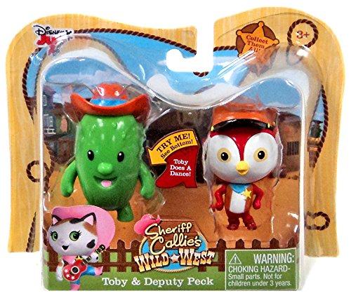"Disney Junior Sheriff Callie's Wild West Toby & Deputy Peck 2.5"" Action Figure 2-Pack - 1"