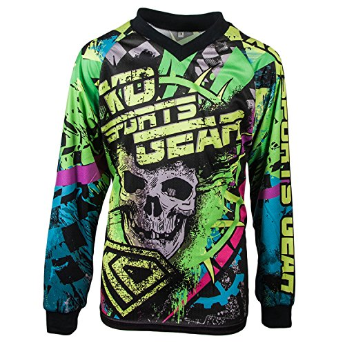 Motocross Jersey by KO Sports Gear - Skull Design (Youth X-Small) (Thor Motorcycle Gear compare prices)
