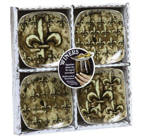 Appetizer / Dessert Plates - Gold Fleur de Lis Collection
