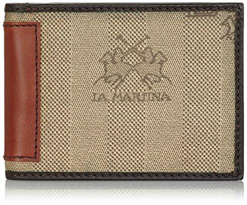La Martina Portafoglio con Portamonete, 8 Carte di Credito, Marrone Scuro