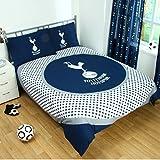 Tottenham Hotspur Official Reversible Double Duvet Cover Set - Blue/White