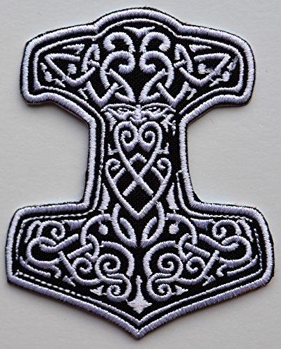 Viking Thor Hammer ricamato panno ferro su patch