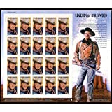 John Wayne, Legends Of Hollywood, Full Sheet of 20 x 37-Cent Postage Stamps, USA 2004, Scott 3876