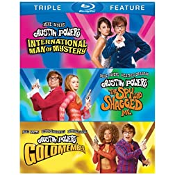 Austin Powers: International Man of Mystery / Austin Powers: The Spy Who Shagged Me / Austin Powers in Goldmember (Triple Feature) [Blu-ray]