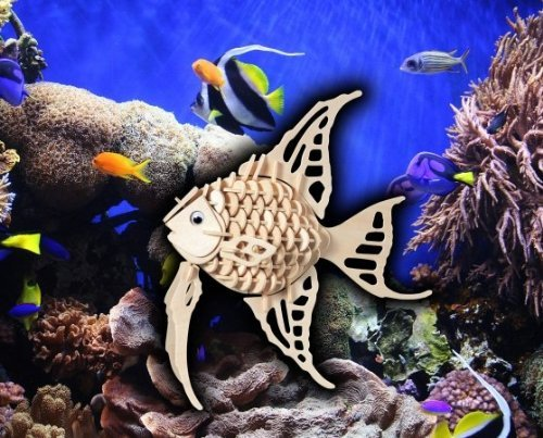 Puzzled Angel Fish Wooden 3D Puzzle Construction Kit - 1