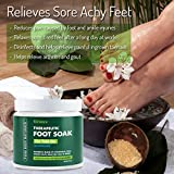 Foot Soak with Tea Tree Oil and Epsom Salt - 20 oz - Tea Tree Essential Oils Foot Bath Fights Fungus & Bacteria, Soothes Aches & Pains & Helps Soften Corns & Calluses (1 Pack)