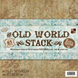 Diecuts with a View Old World 12 inches by 12 inches Paper Stack - Pack of 3
