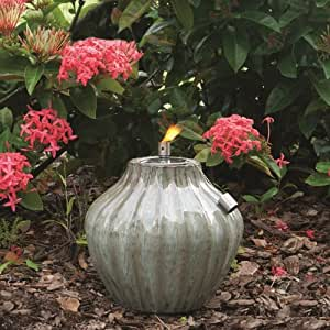 Smart Solar Prometheus Ceramic Fire Pot, 10-Inch H, Morning Dew 215081-10MD (Discontinued by Manufacturer)