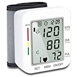 Hong S Digital Blood Pressure Cuff Automatic Wrist Monitor Voice Broadcast Clinical FDA Approved High & Low Blood Pressure Monitors(120 Reading Memory) (Color: Voice Broadcast)