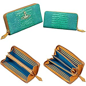 ヴィヴィアンウエストウッド (Vivienne Westwood) 国内正規品 DEVON クロコ 型押し ラウンドファスナー 長財布 (グリーン)