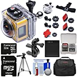 Kodak PixPro SP360 Wi-Fi HD Video Action Camera Camcorder - Aqua Sport Underwater Housing + Handlebar Mount + 32GB Card + Battery + Case + Tripod Kit