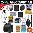 Underwater Photography - 25 PC ULTIMATE SUPER SAVINGS DELUXE DB ROTH ACCESSORY KIT FOR THE Canon Elura 100, Optura S1 Mini DV Camcorders + BONUS Gift = Waterproof Camera = Great For Kids