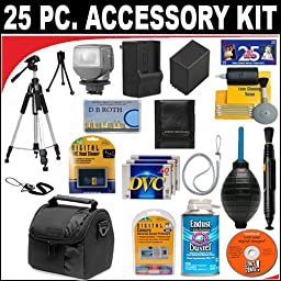 25 PC ULTIMATE SUPER SAVINGS DELUXE DB ROTH ACCESSORY KIT FOR THE Canon Elura 100, Optura S1 Mini DV Camcorders + BONUS Gift = Waterproof Camera = Great For Kids