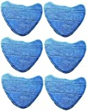 Deals2u365(TM) Microfibre Velcro Replacement Washable Cleaning Pads For Vax S2S, S2C, S5C, S2S-1, S2ST, Duet Master S7, Bare Floor Pro Series Steam Cleaner Mops - (Type 1 - Pack of 6)