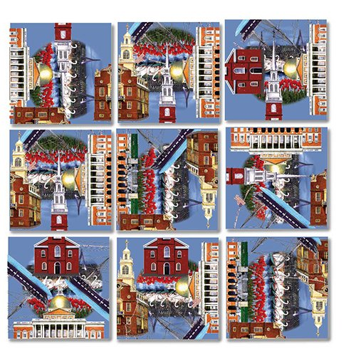 B Dazzle Boston Scramble Squares 9 Piece Puzzle