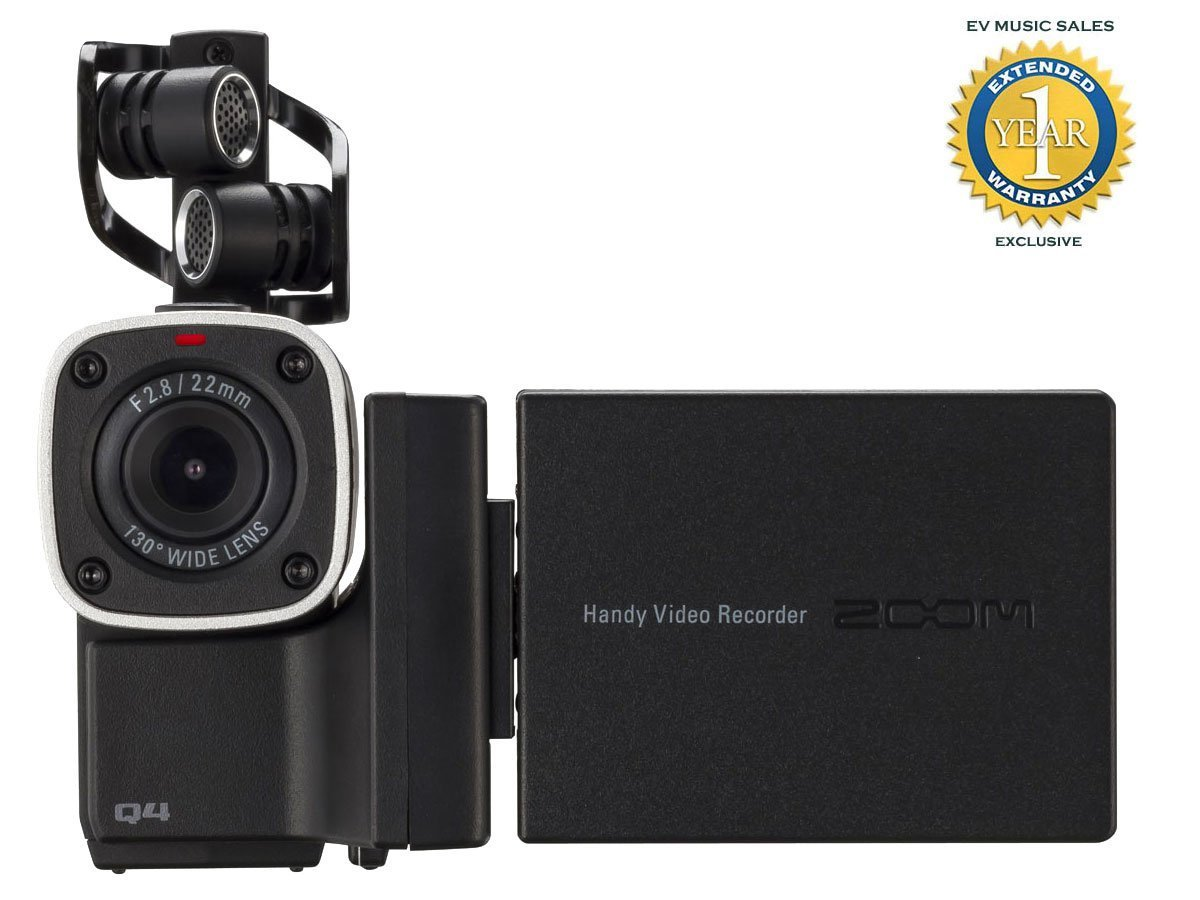 Zoom Q4 Portable HD Video and Audio Recorder With 1 Year Free Extended Warranty