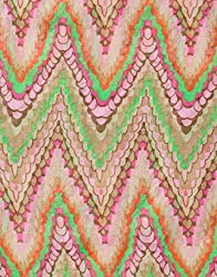 VB Woman's Scarf, fashionable - zigzag-pattern
