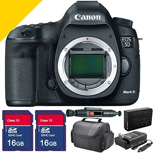 Canon 5D Mark 3 III , Extra Battery, Charger, 2X 16GB SDHC Class 10 Memory Cards and More