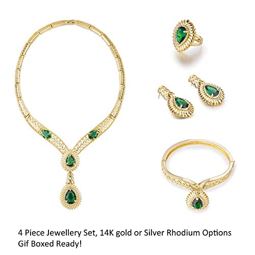 4 Pieces Pear Drops Jewelry Set