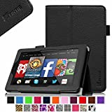 Fintie Fire HD 7 Tablet (2014 Oct Release) Case Slim Fit Leather Standing Protective Cover with Auto Sleep/Wake Feature (will only fit Fire HD 7 4th Generation 2014 model), Black
