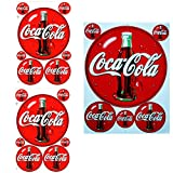 Patch - Sticker - 3 Sticker - Sheet 2x (F4) 1x (F3) Coca Cola 1 - Stickers - Car - Motorbike - Motocross - Bike - BMX - MTB - Scooter - Racing