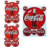 Patch - Sticker - 3 Sticker - Sheet 2x (F4) 1x (F3) Coca Cola 1 - Stickers - Car - Motorbike - Motocross - Bike - BMX - MTB - Scooter - Racing