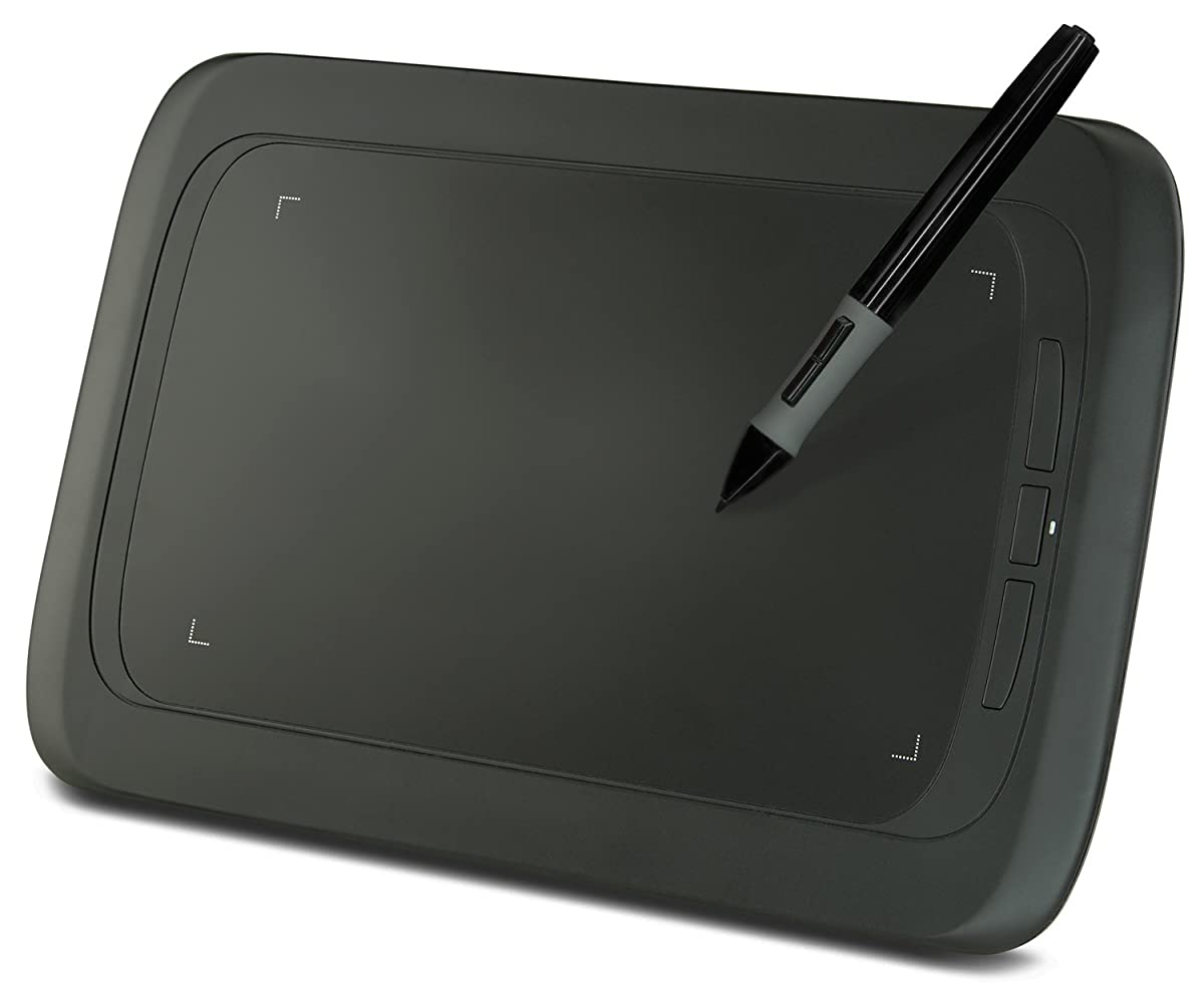 Turcom TS-690 Graphic Tablet Drawing Tablets and Pen/Stylus for PC Mac Computer, 9 x 6 Inches Surface Area 2048 Levels of Pressure Sensitive Surface with 3 Hot Keys, 5080 LPI Resolution