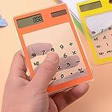 Opeer Transparent Calculator Mini Creative Stationery Candy Slim Solar Energy LED Clear Scientific Calculator (Size:80X119mm, Random) (Color: Random, Tamaño: Size:80X119mm)