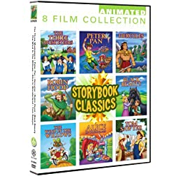 Storybook Classics 8 Pack: Black Beauty, Peter Pan, Hercules, Robin Hood, Three Musketeers, Wind In The Willows, Alice In Wonderland, Tom Sawyer