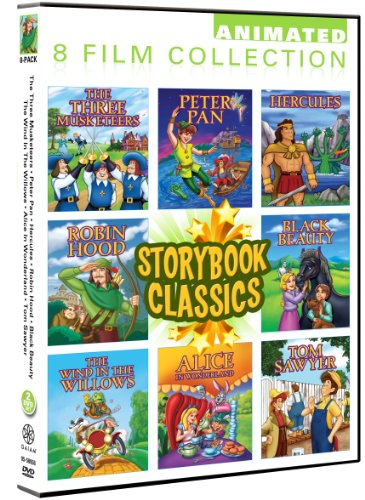 Storybook Classics 8 Pack: Black Beauty, Peter Pan, Hercules, Robin Hood, Three Musketeers, Wind In The Willows, Alice In Wonderland, Tom Sawyer (Storybook Classics compare prices)