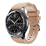 VESNIBA New Fashion Sports Silicone Bracelet Strap Band For Samsung Gear S3 Frontier (Khaki) (Color: Khaki, Tamaño: 140- 251mm)